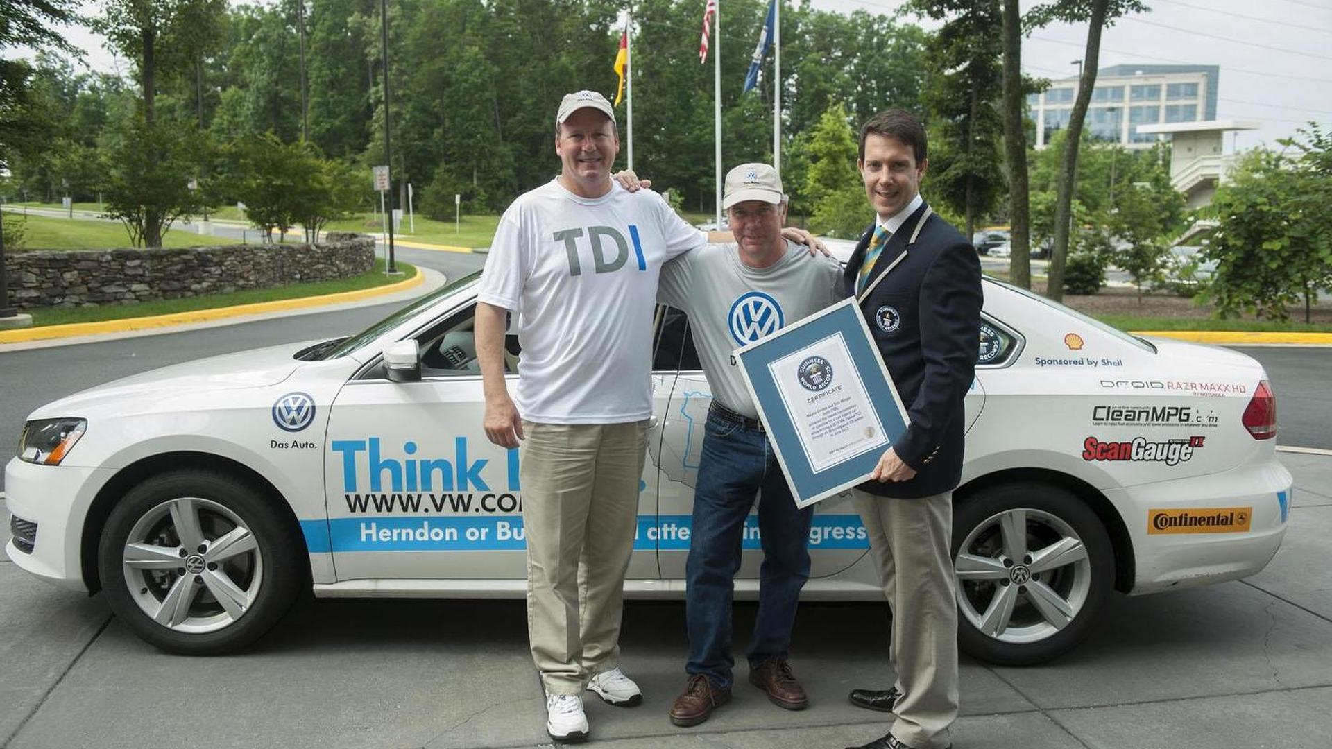 Volkswagen Passat TDI sets new Guinness World Record for fuel efficiency