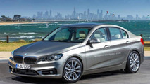 BMW 1-Series FWD sedan rendered