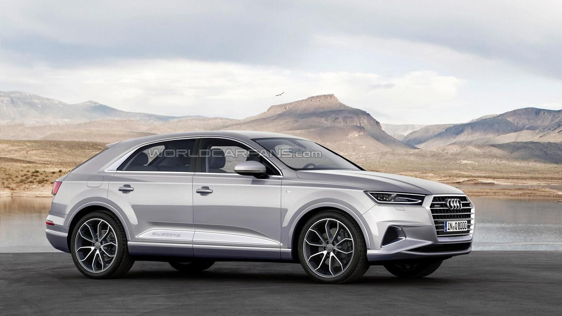 2019 Audi Q8 speculatively rendered