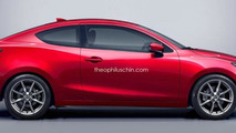 Mazda2 MPS Sedan and Mazda2 Coupe rendered