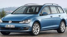 2014 Volkswagen Golf VII Estate spied and rendered