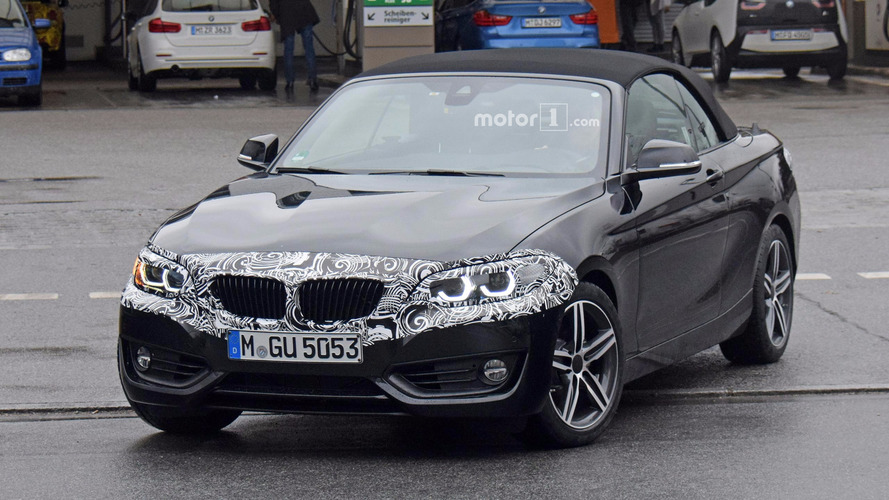 BMW 2 Series Convertible Refresh Spy Photos