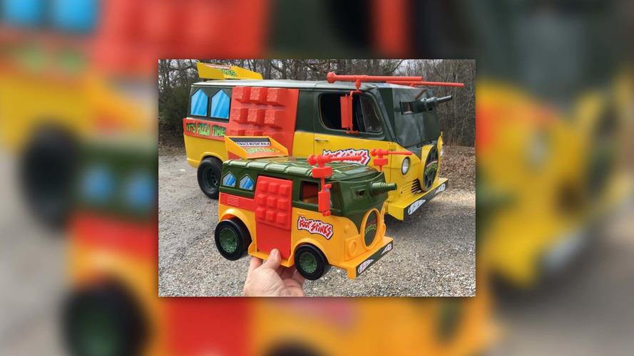 Teenage Mutant Ninja Turtles replica van is totally tubular