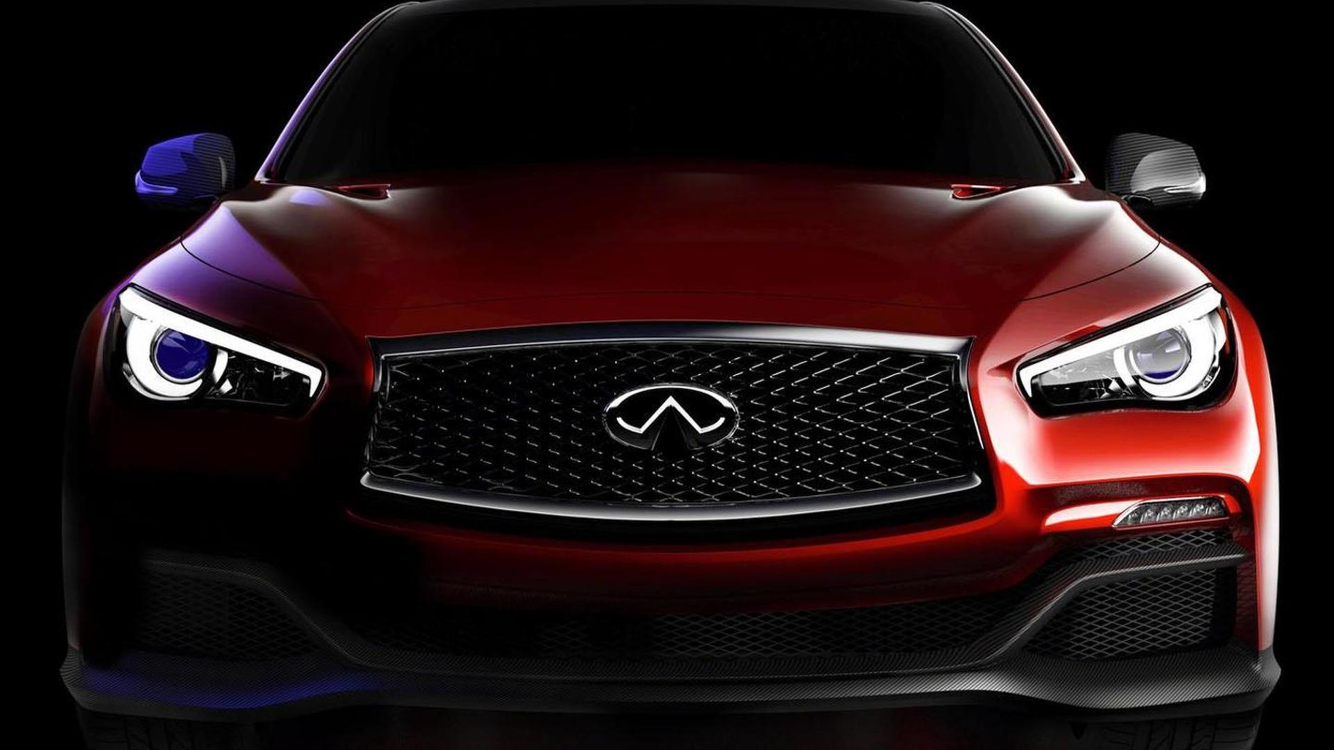 Infiniti Q50 Eau Rouge concept teased, debuts in Detroit [video]