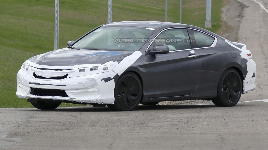 2016 Honda Accord Coupe facelift spied