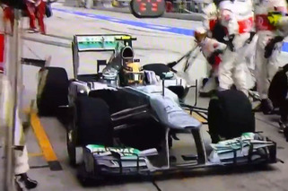 Video: Lewis Hamilton Pulls Into Old Team's Pit