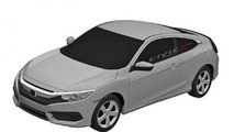 Next generation Honda Civic Coupe patent sketch
