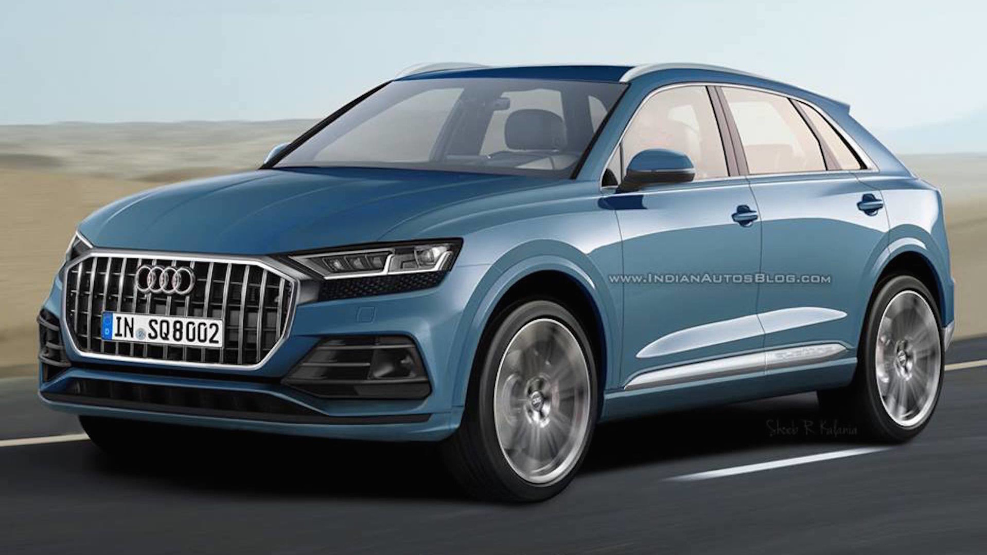 2019 audi q8 render looks promising. Black Bedroom Furniture Sets. Home Design Ideas