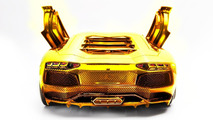 Gold Lamborghini Aventador LP700-4 scale model by Robert Wilhelm Gülpen