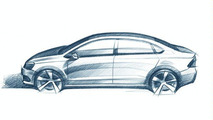 2012 VW Polo V Sedan Design Sketch Allegedly Leaked