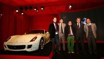 Michael Schumacher, Marco Mattiacci, Lu Hao, Professor Pizzigoni and Professor Cen with Ferrari 599 China