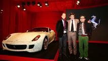 Michael Schumacher, Marco Mattiacci and artist Lu Hao with Ferrari 599 China