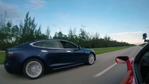Vidéo - La Tesla Model S P100D affronte la Lamborghini Huracán