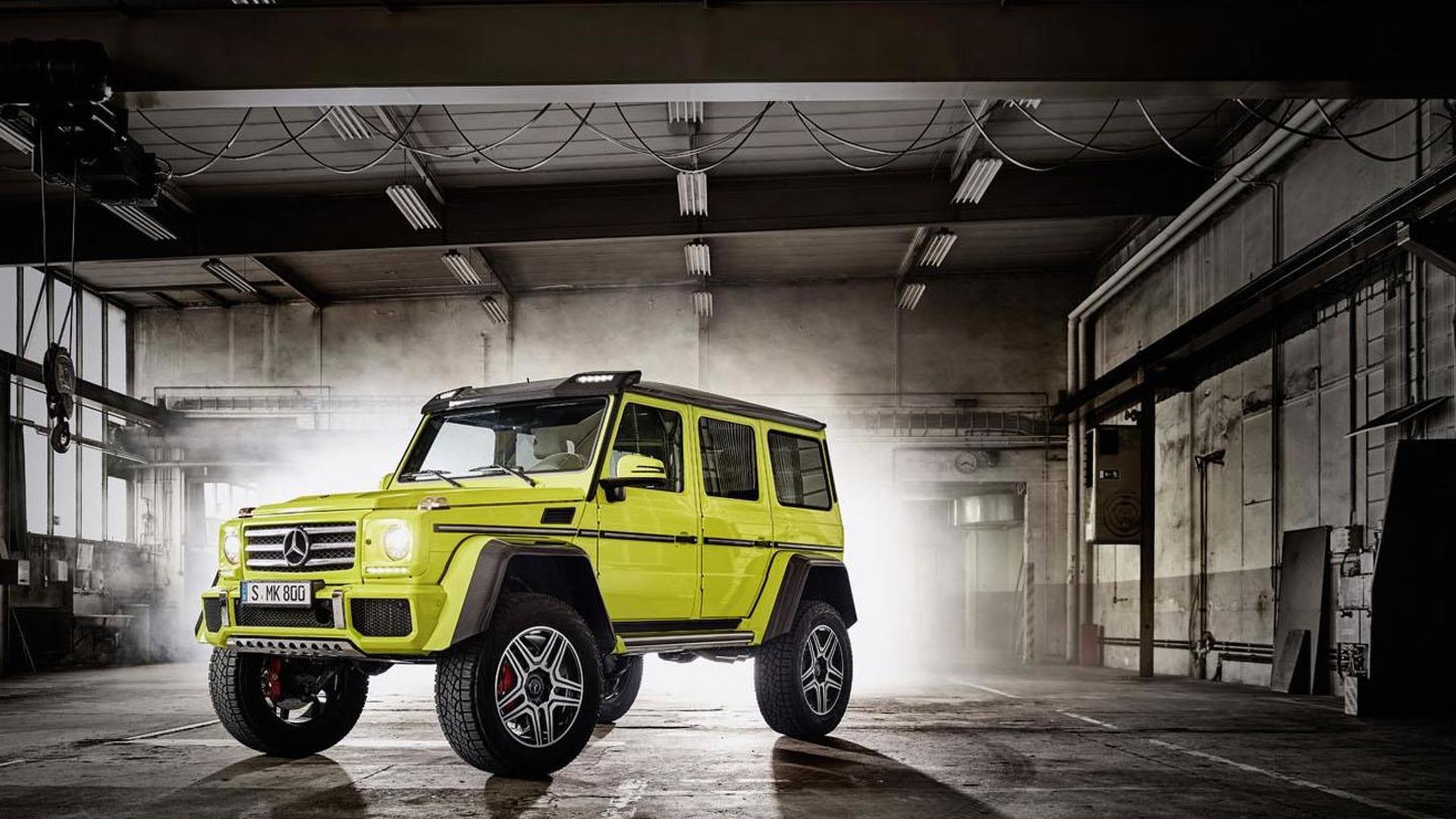 Mercedes G 500 4x4² concept gets detailed