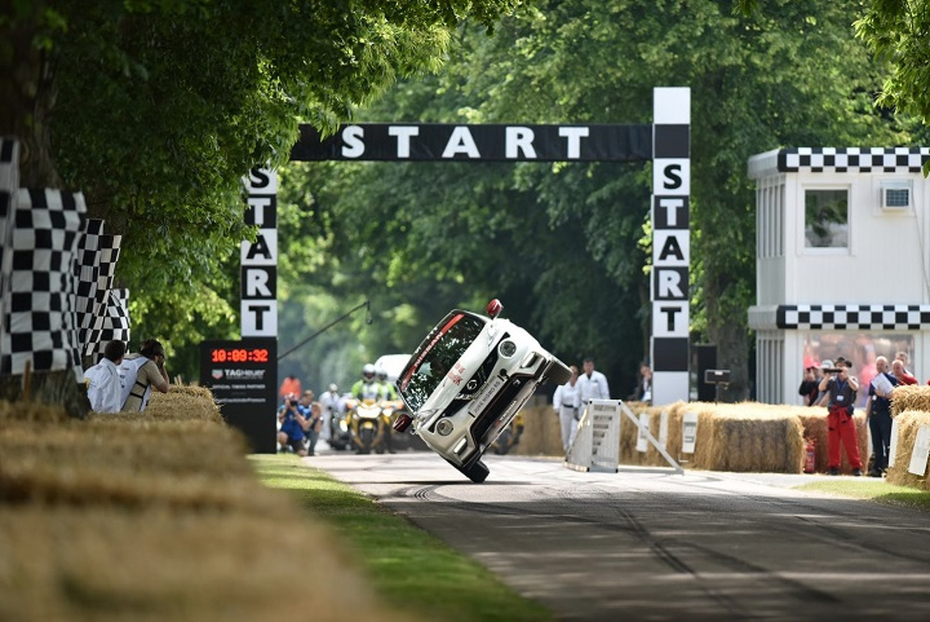 Watch the Nissan Juke Nismo RS Tackle Goodwood on Two Wheels