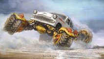 Moskvich 407 Russian Monster-Robot-Car