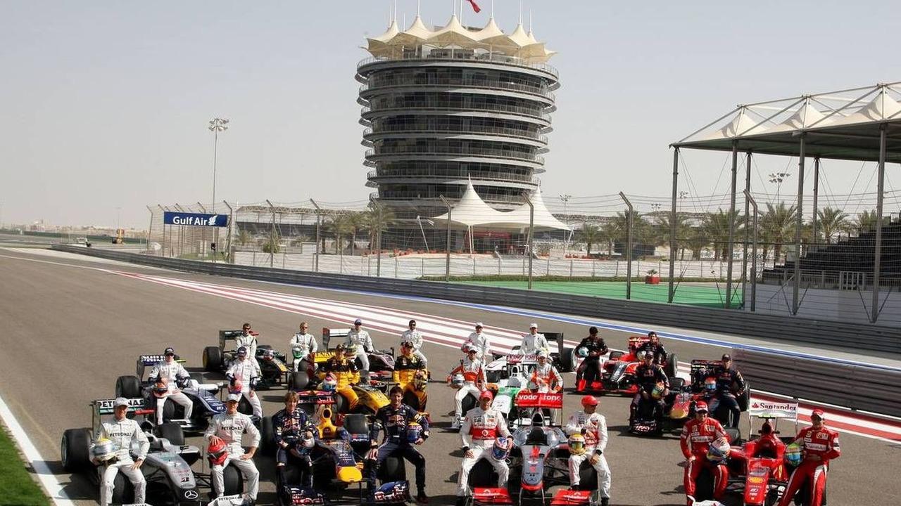 2010 drivers and cars - Formula 1 World Championship, Bahrain Grand Prix, 12.03.2010 Sakhir, Bahrain