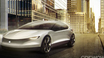 Apple car digitally envisioned with Tesla influences