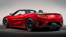 Acura NSX Roadster rendering