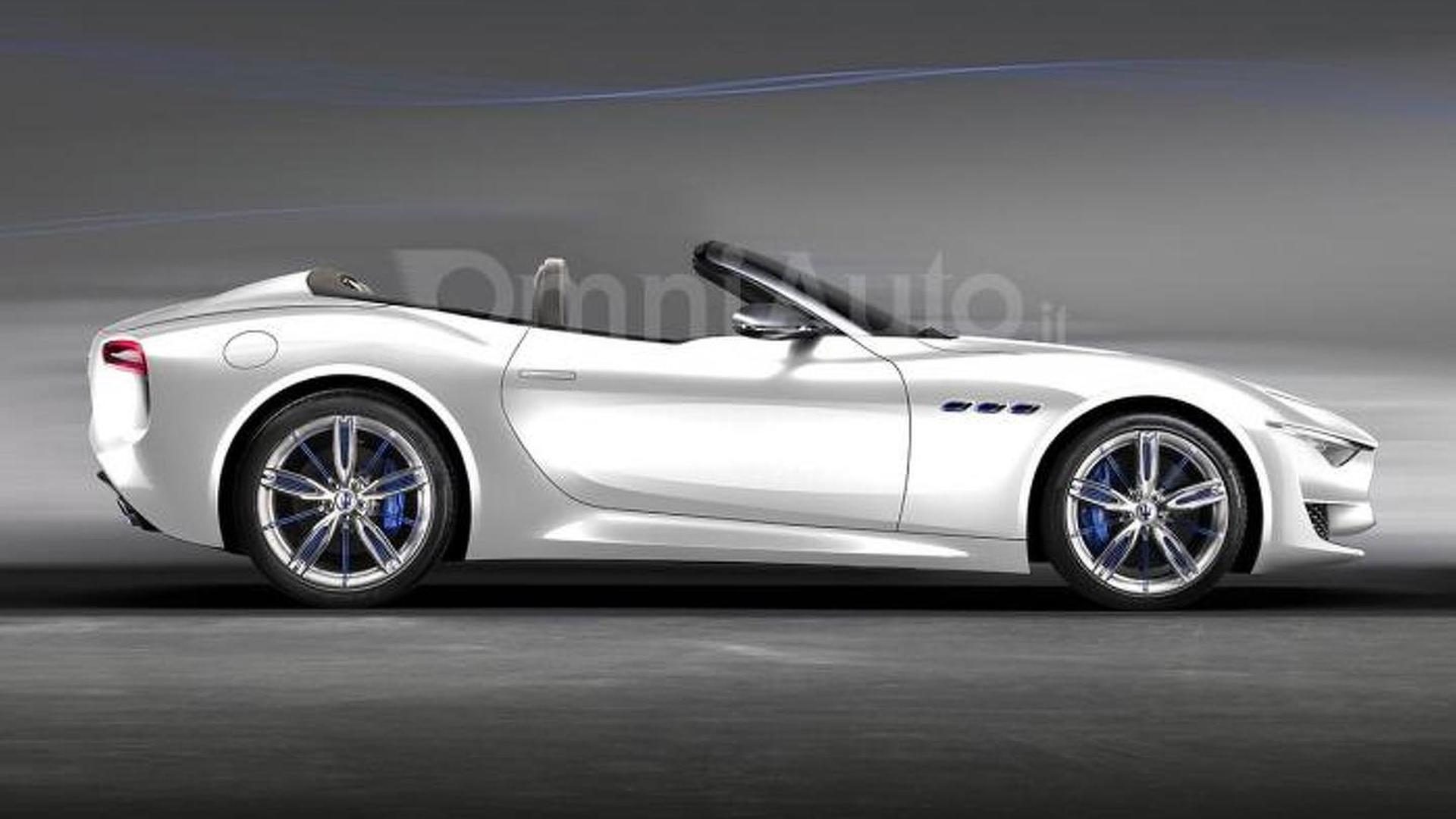 Maserati Alfieri concept loses its roof in new render