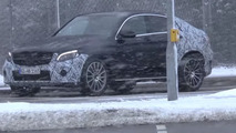 Mercedes GLC Coupe spied in heavy snow with V6 engine [video]