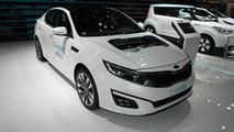Kia Optima T-Hybrid concept at 2014 Paris Motor Show