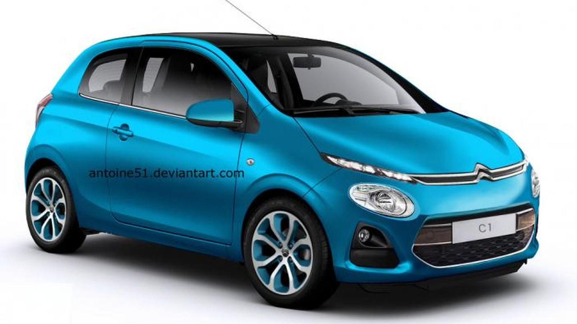 Well, that was fast - Citroen C1 rendering appears online