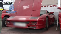 Fake Ferrari and Lamborghini cars in Spain