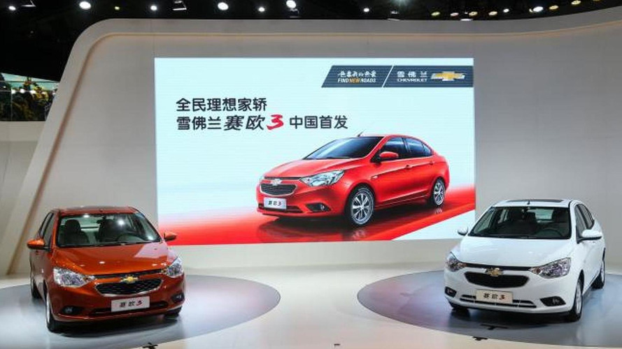 Chevrolet Sail 3 unveiled at the Guangzhou Motor Show