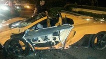 McLaren 650S Spider crash in Singapore
