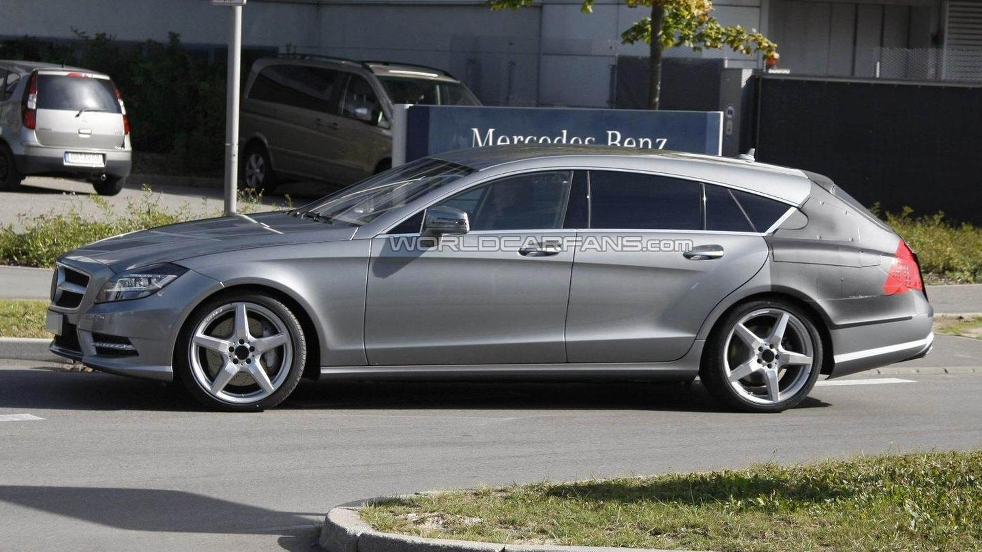2013 Mercedes-Benz CLS wagon / shooting brake spied on [video]