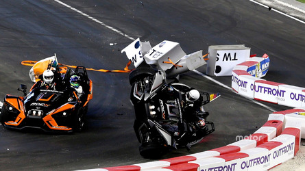 F1 driver unhurt in dramatic Race of Champions flip