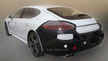 2014 Porsche Panamera facelift spy photo / auto.sohu.com