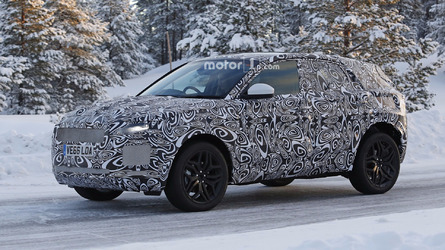Jaguar E-Pace spotted hiding familiar design