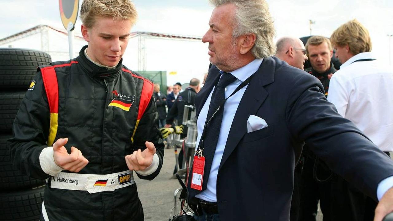 Nico Hulkenberg, Driver of A1Team Germany (left) and Willi Weber, 01.10.2006 Zandvoort, The Netherlands