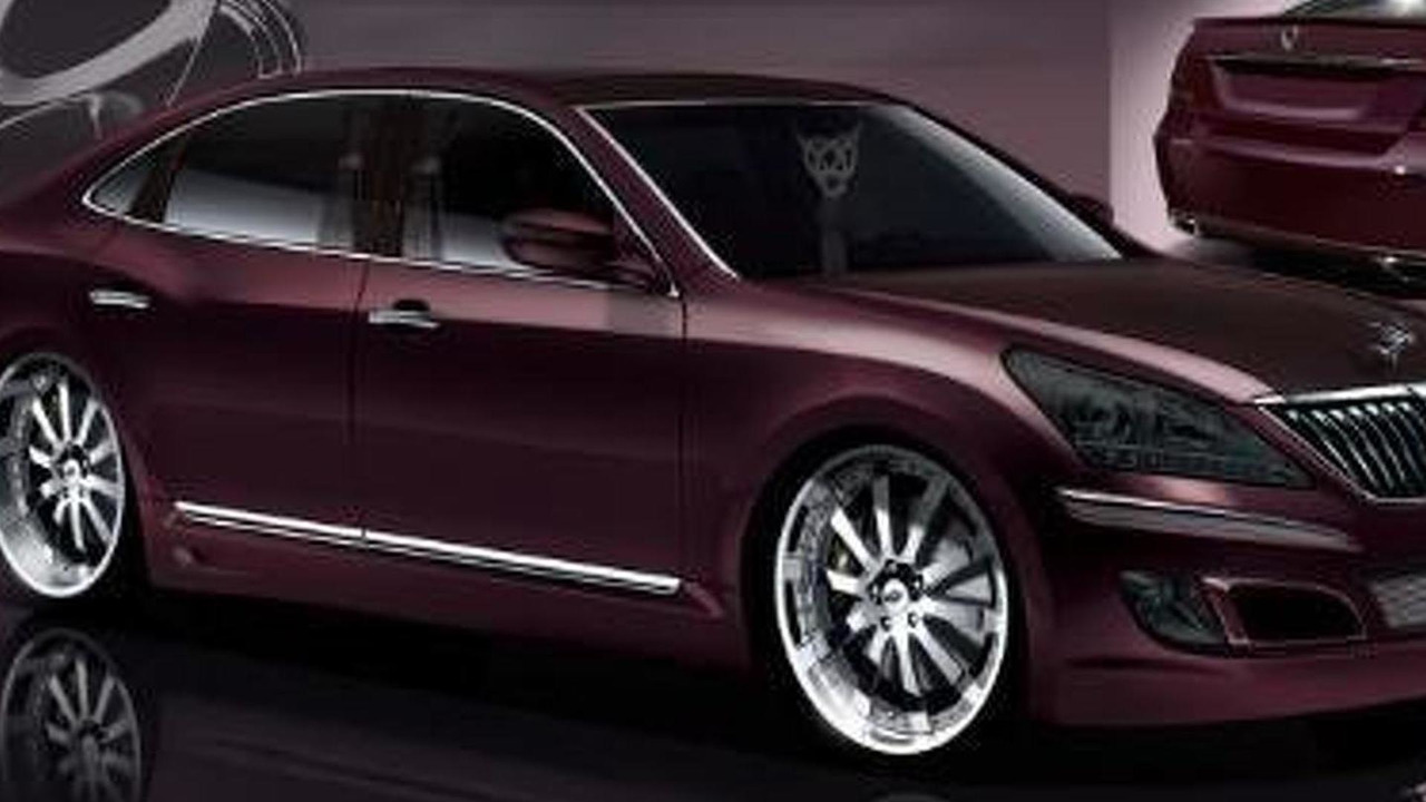 Hyundai Equus by Mummbles Marketing SEMA 01.11.2010