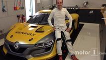 Robert Kubica au volant de la Renault RS01 à Spa-Francorchamps
