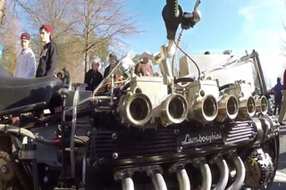 Hear The Rumble of a Lamborghini V12 On a Motorcycle