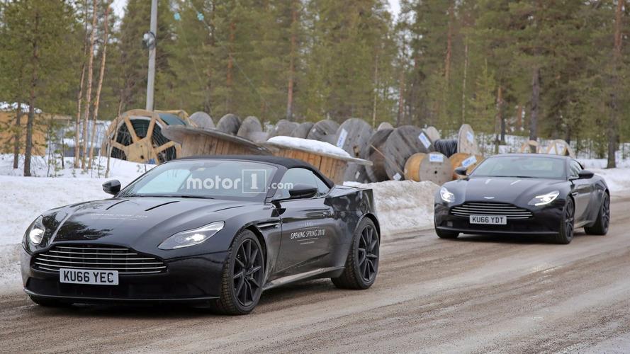 2018 Aston Martin DB11 Volante spy photos