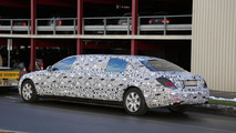 Mercedes S-Class Pullman spied inside & out