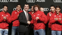 Barcelona players receive their yearly Audis