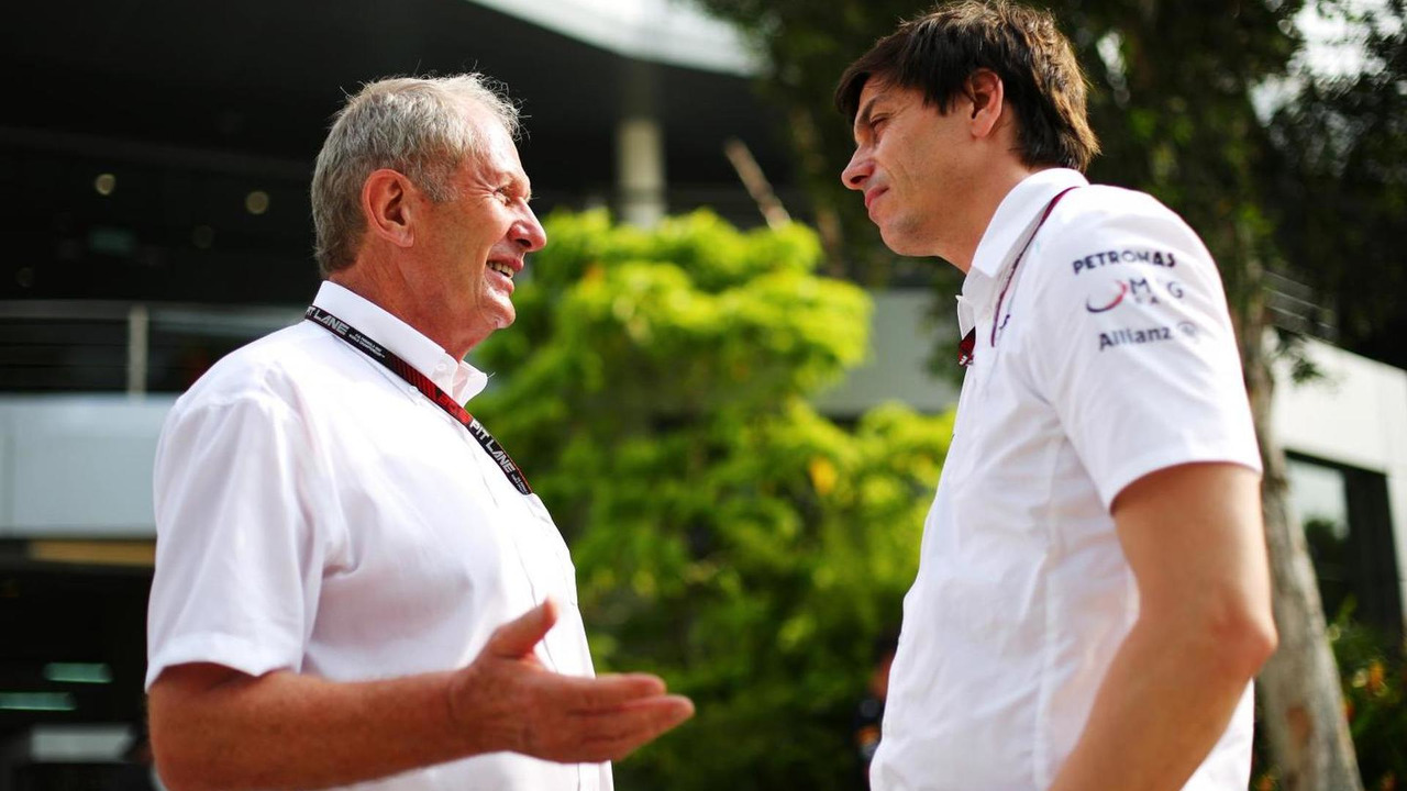 Dr Helmut Marko (AUT) with Toto Wolff (GER) / XPB