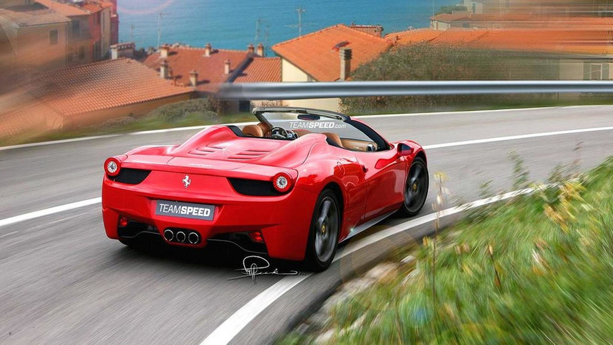 Ferrari 458 Spider further details - new renderings
