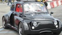 Heavily modified Fiat 500 has a Lamborghini V12 engine [video]