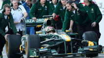 Lotus happy during first test day at Jerez