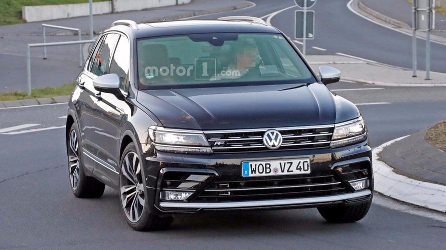 VW Tiguan R spied again
