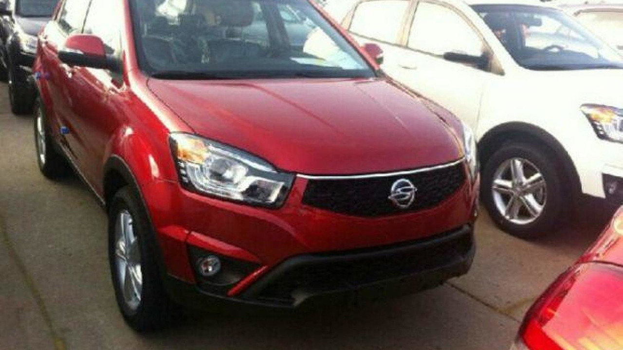 2014 SsangYong Korando facelift spy photo 31.07.2013
