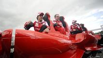 Felipe Massa (BRA), with Stefano Domenicali (ITA) and Fernando Alonso (ESP), with new Ferrai Formula Rossa Roller Coaster, Spanish Grand Prix, 06.05.2010 Barcelona, Spain