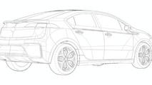 2011 Opel Ampera Design Sketch