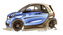 2015 Smart ForTwo and ForFour show their funky design in Paris
